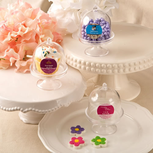 40 200 Personalized Medium Size Cake Stand Mini Cupcake Holder Wedding Party $52.50
