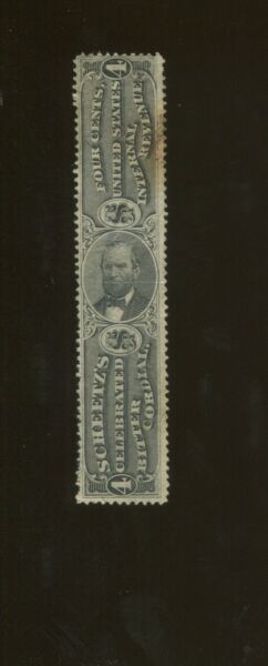 1871 United States Internal Revenue Private Die Medicine Stamp #RS210b w Fault