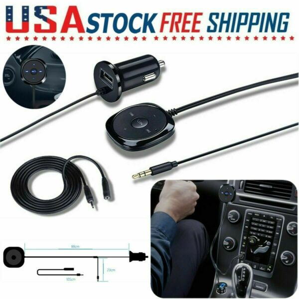 Bluetooth Wireless Aux Receiver Adapter Handsfree for Car Stereo Audio Speaker $11.99