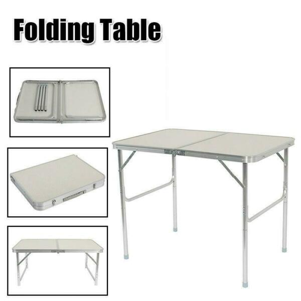 3FT Partable Aluminum Folding Table Picnic Garden Camping Indoor Outdoor Desk