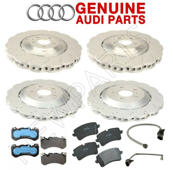 For Audi RS7 4.0L V8 14-16 Front and Rear Disc Brake Rotors Pads