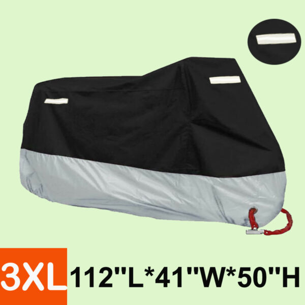 New Waterproof ATV Cover 85quot; Long Outer Black Inner Silver Layers BA2YV $16.99