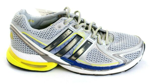 Adidas Adistar Salvation 2 Silver Blue & Yellow Running Shoes Men's NEW