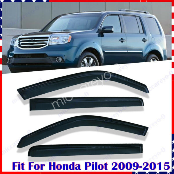 Window Visors Rain Deflectors For Honda Pilot 2009 2010 2011 2012 2013 2014 2015