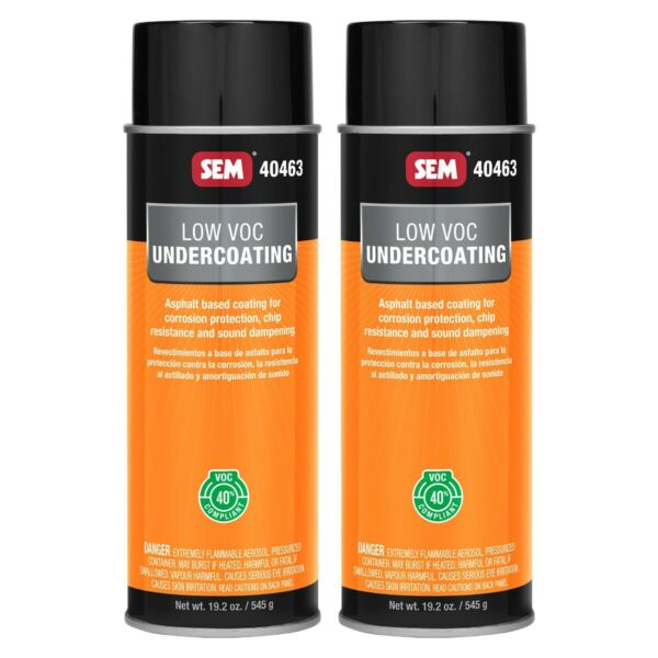 SEM 40463 Low Voc Black Undercoating Corrosion Protection 19.2 oz (2 Cans)