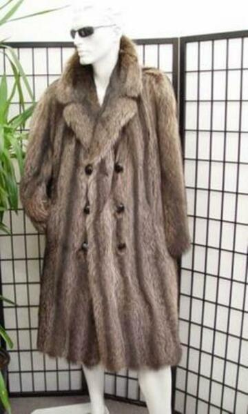 BRAND NEW QUALITY RACCOON RACOON FUR COAT MEN MAN SIZE CUSTOM MADE