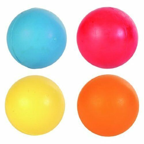 Trixie Pack of 4 Balls Natural SOLID HEAVY Rubber Dog Ball - 5cm 6cm 7cm Or 8cm