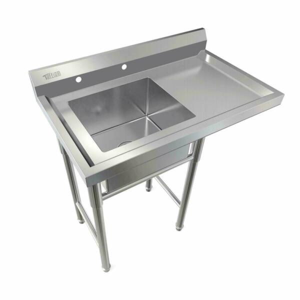 Commercial Utility 39quot; Stainless Steel Sink Silver for Outdoor Laundry Room New