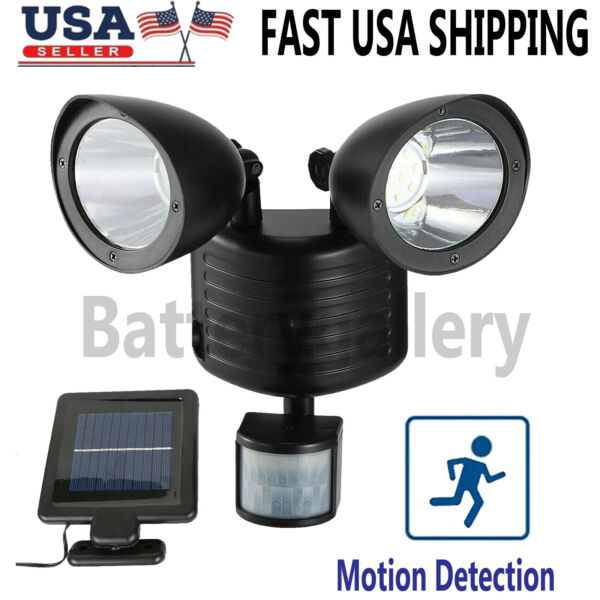 22 LED Dual Security Detector Solar Spot Light Motion Sensor Outdoor Floodlight $19.99