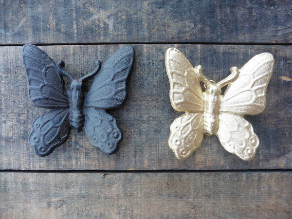 Rustic Cast Iron BUTTERFLY Wall Decor ~ CHOOSE COLOR & QUANTITY ~ Gold or Iron