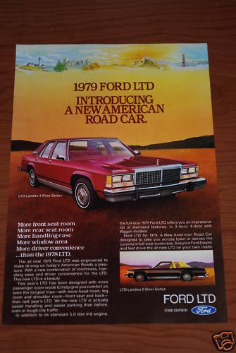 ★★1979 FORD LTD LANDAU 2 DR & 4 DR ORIGINAL VINTAGE ADVERTISEMENT AD 79 80 5.0