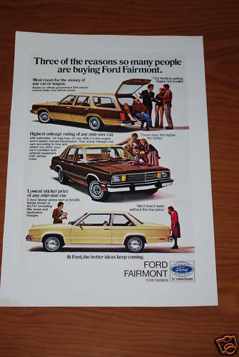 ★★1979 FORD FAIRMONT ORIGINAL VINTAGE ADVERTISEMENT AD 79 80 WAGON SEDAN COUPE★★