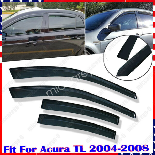 for 2004 2005 2006 2007 2008 Acura TL Window Visor Weather Sheild Replace Set