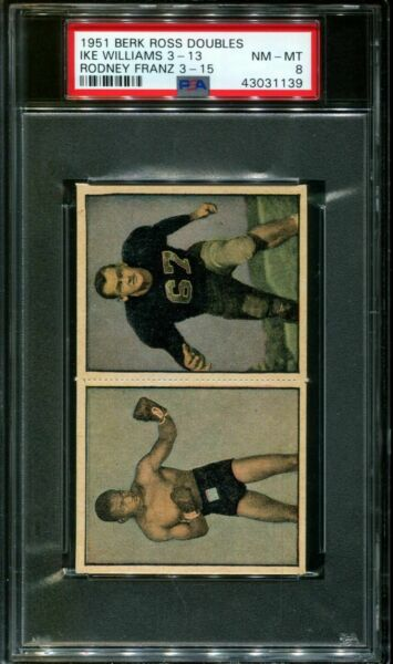 1951 BERK ROSS RODNEY FRANZ 3-15-IKE WILLIAMS 3-13 PSA 8 X2689112-139