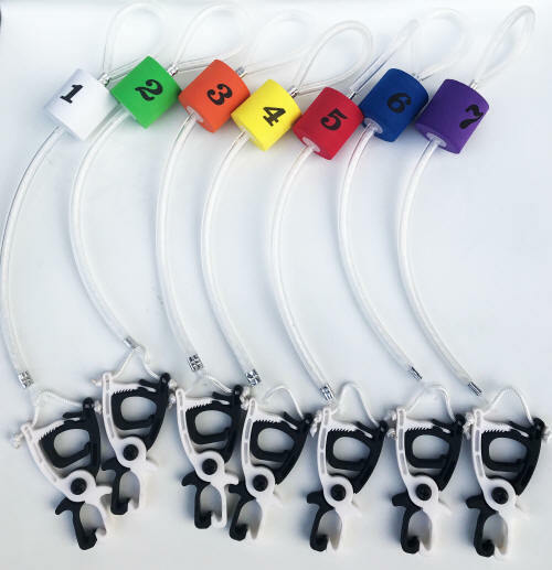 Cal Coast Fishing Clip-N-Cull 2.0 Fish Culling System Tags Numbered Color Floats
