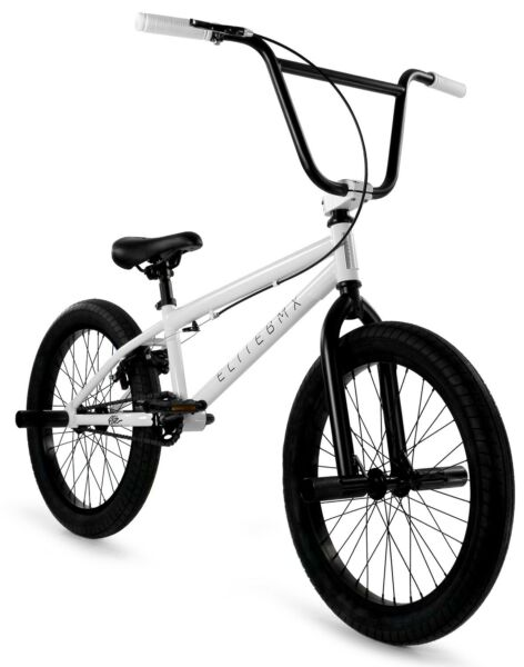 Elite 20quot; BMX Stealth Bicycle Freestyle Bike 1 Piece Crank White NEW 2021 $269.00
