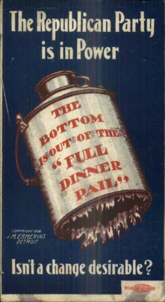William Jennings Bryan Political Promo Campaign Republican Party Dinner Pail