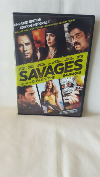 Savages ( DVD 2012  UNRated Edition)  John Travolta Salma Hayek