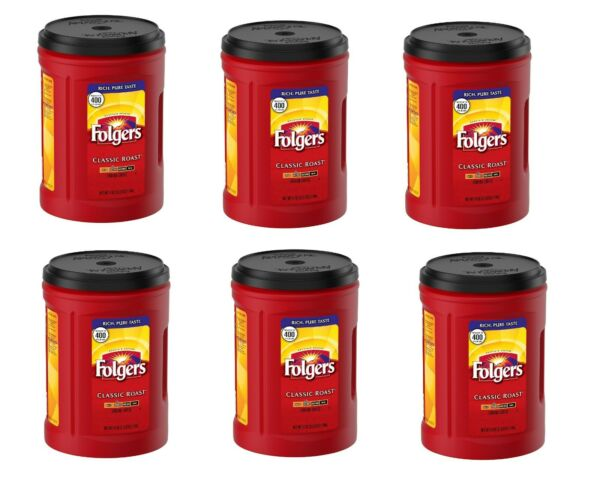 Folgers Classic Roast Ground Coffee 51 OZ Each Pack of 6