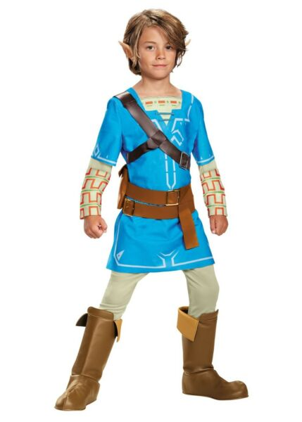 Legend of Zelda Breath of the Wild - Blue Link Child Deluxe Costume