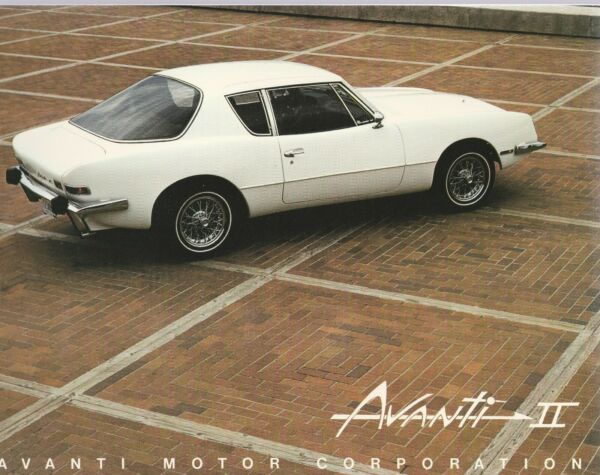 AVANTI II 1982 CATALOG WITH MAILING ENVELOPE ORDER FORM OPTIONS LISTETC