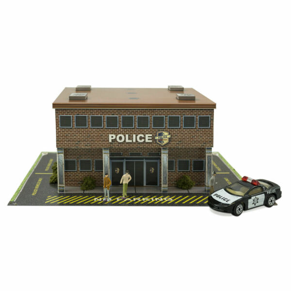 148 O Scale Police Station Diorama Building Kit Fits Lionel Bachmann Williams