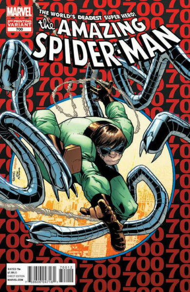 Amazing Spider-Man #700 Second 2nd Print Variant Death Peter Parker New Superior