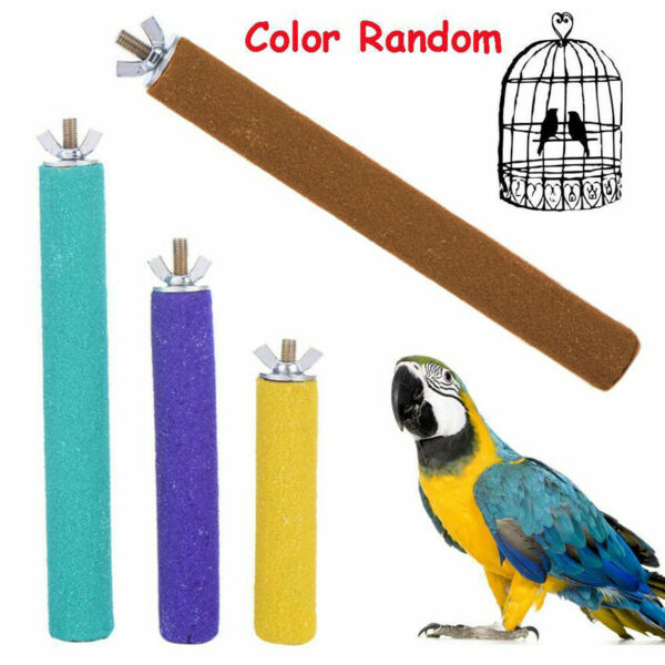 New Pet Bird Claw And Beak Grinding Bar Standing Stick Cage Accessories Parrot