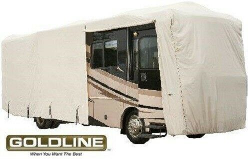 Goldline Premium Class A RV Trailer Cover Fits 42 to 44 foot Grey