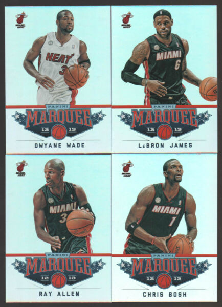 2012 2013 MIAMI HEAT 20 Card Lot w PANINI MARQUEE Team Set 12 FINALS Players $25.19