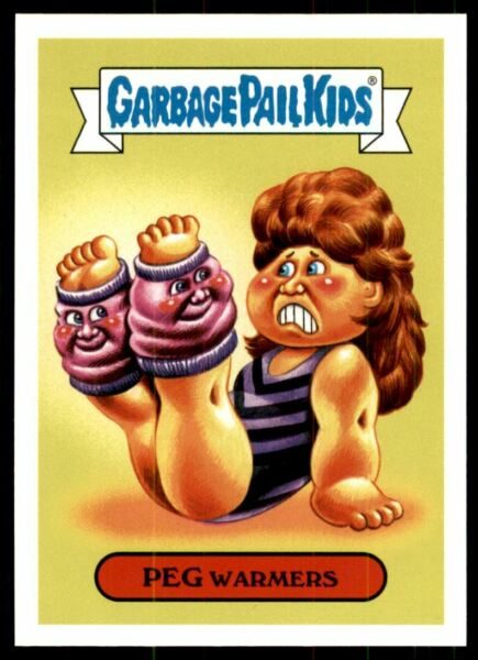 2018 Garbage Pail Kids We Hate the '80s Fashions and Fads #3a Peg Warmers