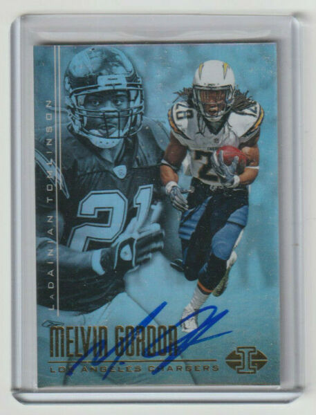 MELVIN GORDON Chargers SIGNED 2017 Illusions Football #72 Autograph ON CARD AUTO