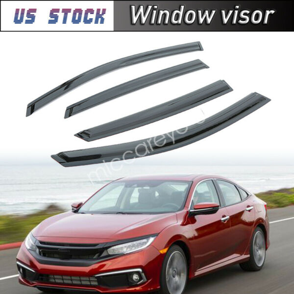 Somke Deflector Window Visor Rain Guard For 2016 2017 2018 Honda Civic Sedan