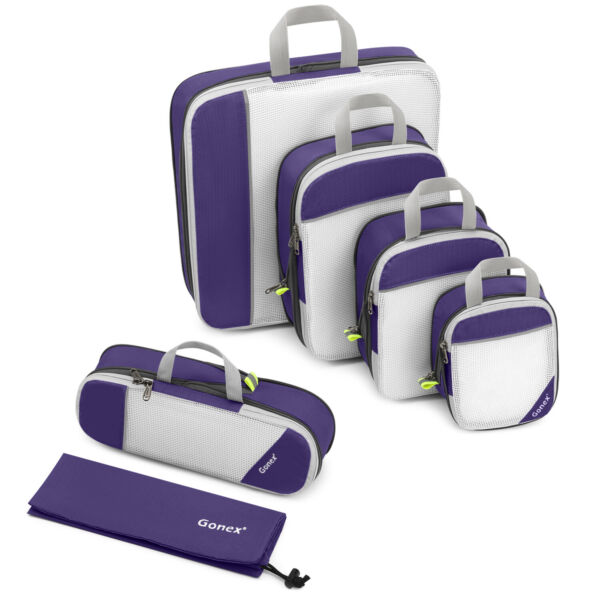 Compression Packing Travel Storage Bags Extensible Cube Luggage Organizer Set