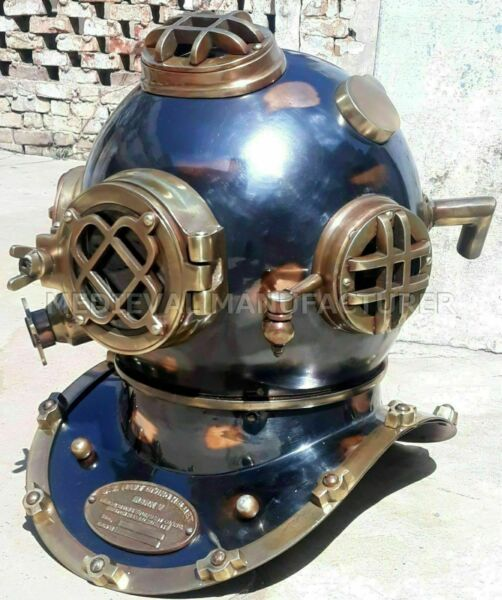 Antique 18quot; Diving vintage BOSTON MARK V U.S Navy Deep Sea Divers Helmet Replica