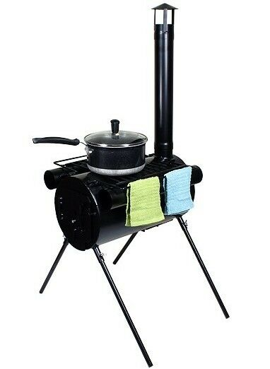Portable Military Camping Wood Stove Tent Heater Cot Camp Ice Fishing Cooking RV $149.95