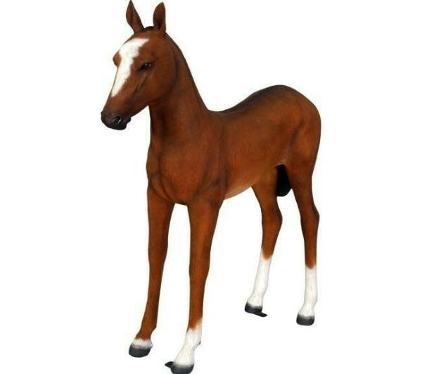 Horse Pony Standing  Foal Statue Display Prop Farm Animal