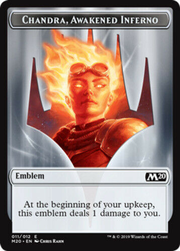 4x Emblem - Chandra Awakened Inferno (011012) MTG Core Set 2020 (M20) NM Magic