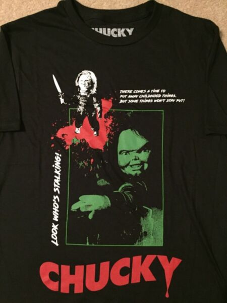 CHUCKY Child's Play 2 3 movie Bride of seed Vintage Retro MEN'S New T-Shirt
