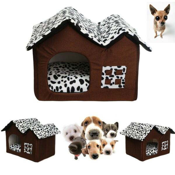 Indoor Pet Dog House Cage Bed Kennel Puppy Cat Cabin Cushion Mat Pad Washable