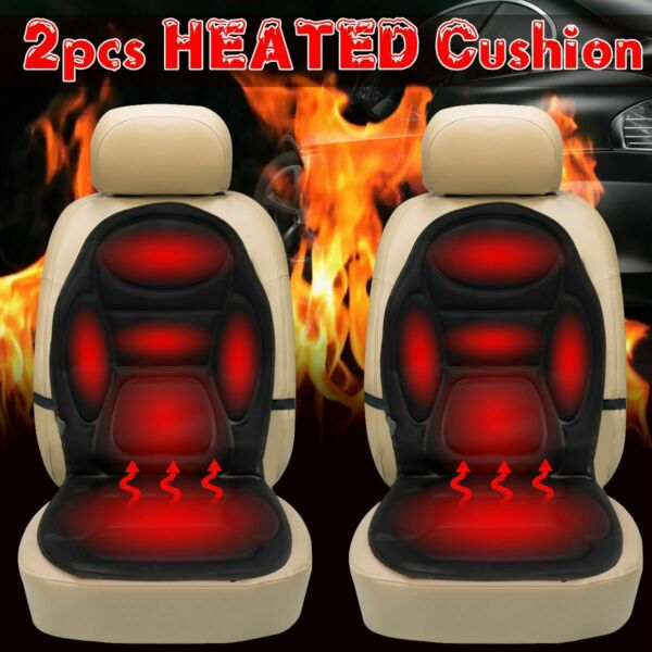 2x Car Seat Heater Thickening Heated Pad Chair Cushion Winter Warmer Cover 12V