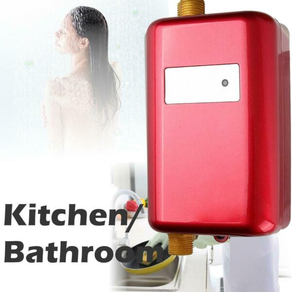 110V Mini Instant Electric Tankless Hot Water Heater Shower Kitchen Bathroom