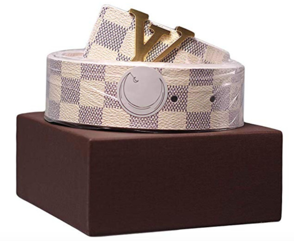 Fashion Leather Metal with gold Buckle Unisex Women Men Belt Casual business New
