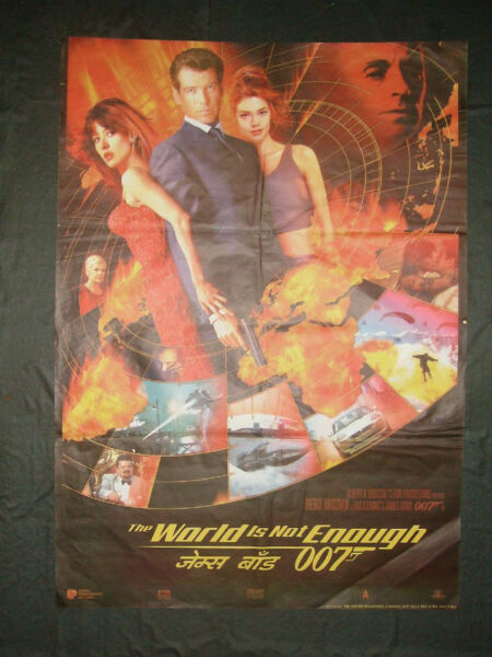 THE WORLD IS NOT ENOUGH POSTER INDIA JAMES BOND 007 PIERCE BROSNAN original