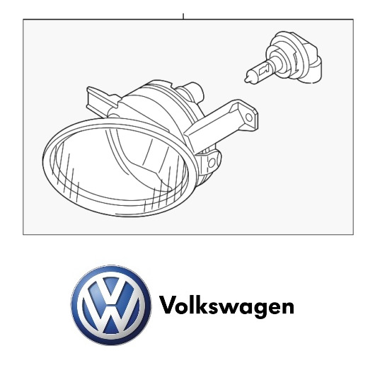 Front Driver Left Fog Lamp Assembly Genuine 7P6941699F For VW Touareg 2011-2016
