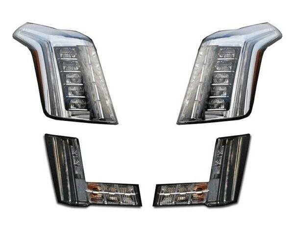 Left & Right Genuine LED Headlights & Fog Lamps Kit for Caddy Auto Braking GM