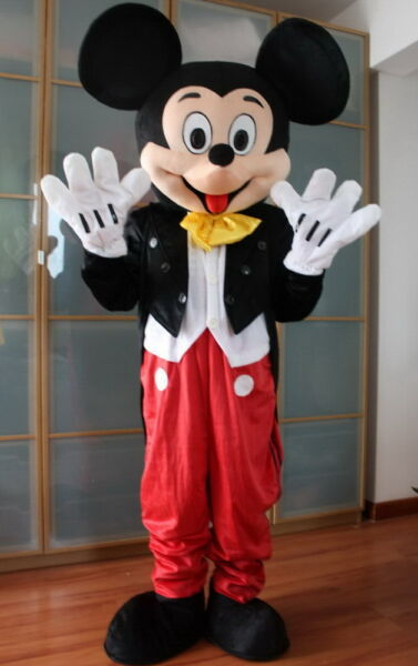 New Popular Unisex Adult Professional Mickey Mouse Mascot Costume Fancy Dress
