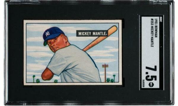 Mickey Mantle 1951 Bowman RC High Grade Rookie SGC 7.5 !! Centered