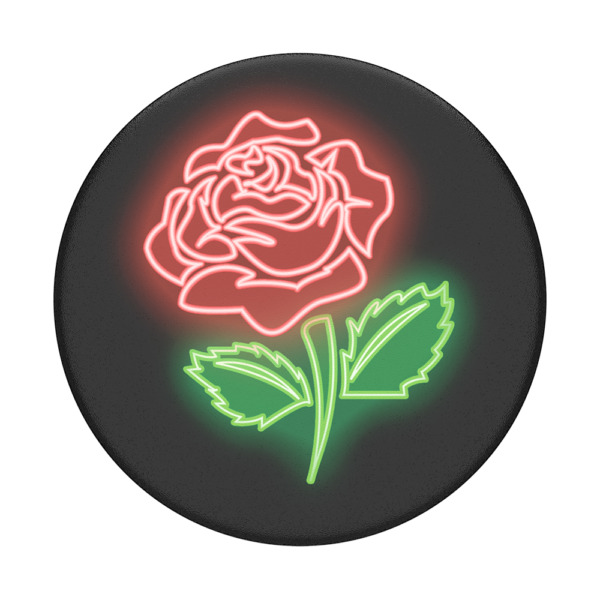 Neon Rose - PopSockets PopGrip: Universal Phone Grip Holder