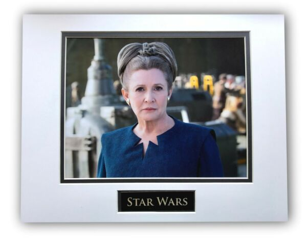 Star Wars Princess Leia Matted Licensed 8x10 Photo For Frame 11x14 Force Awakens